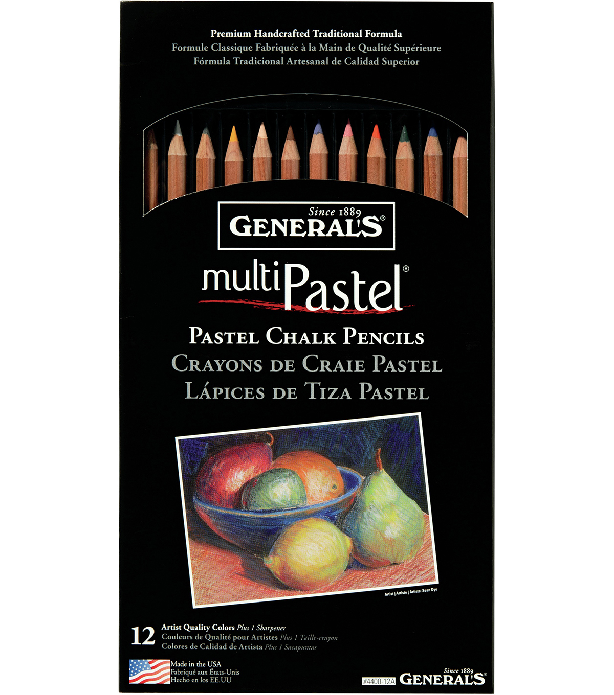 MultiPastel Pencils 12/Pkg-Assorted Colors