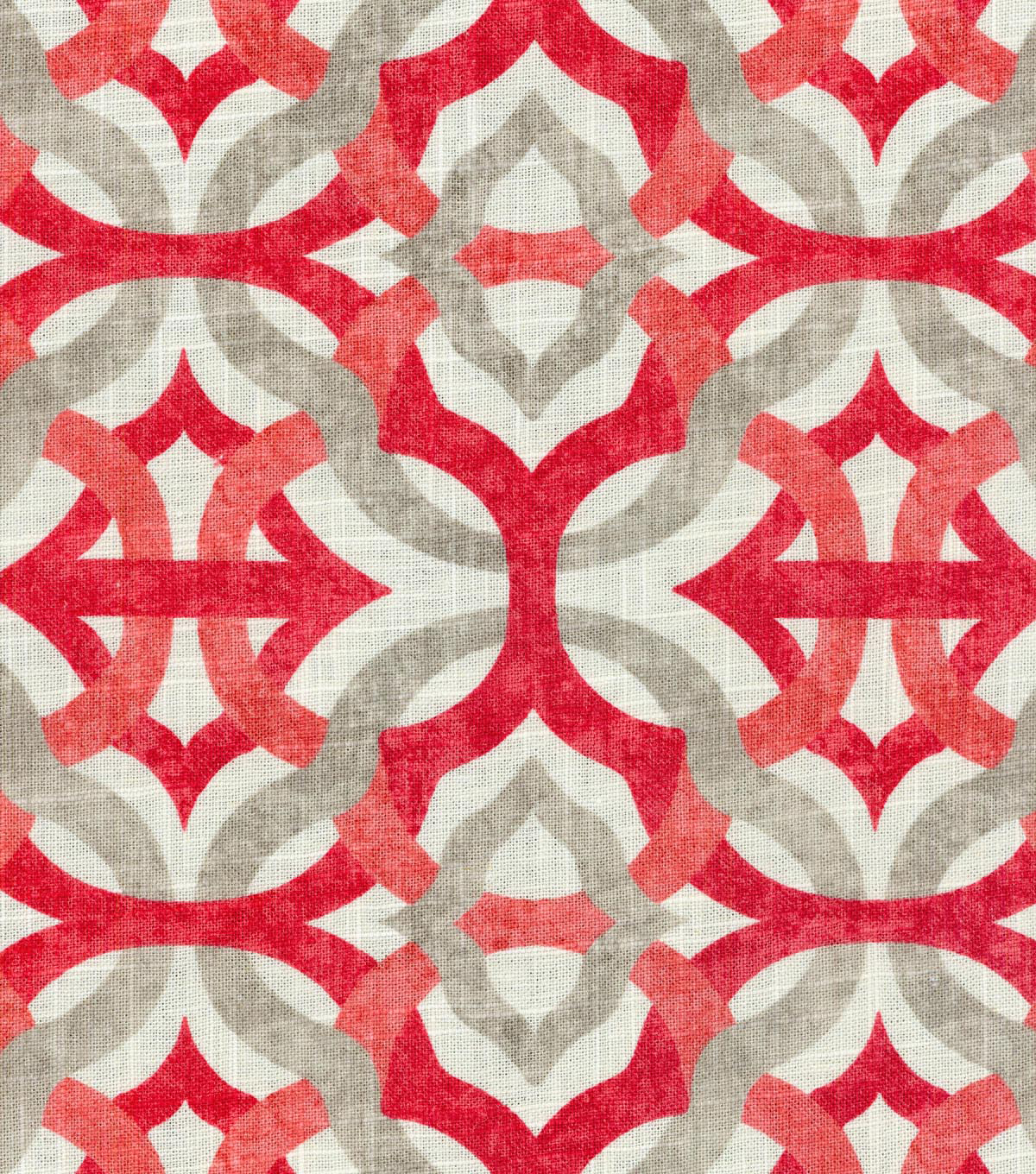 "Waverly Upholstery Fabric 54""-Compton Strawberry"