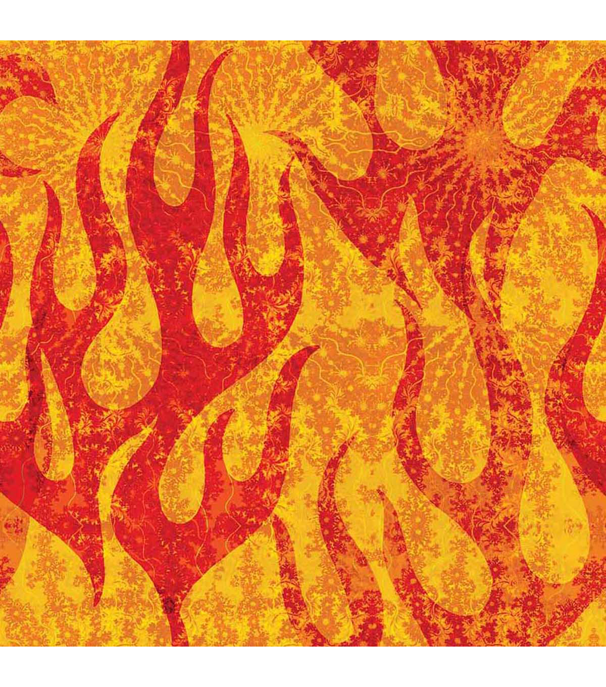 "Anti-Pill Fleece Fabric 59""-Burnin Up Flame"