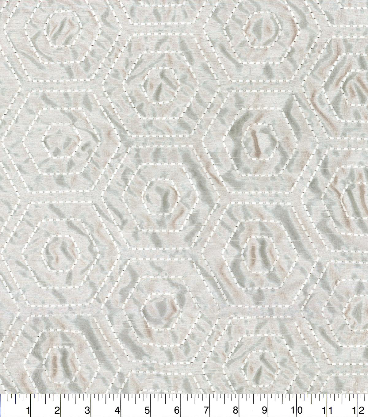 Waverly Embroidered Upholstery Fabric 54''-Alabaster Solstice