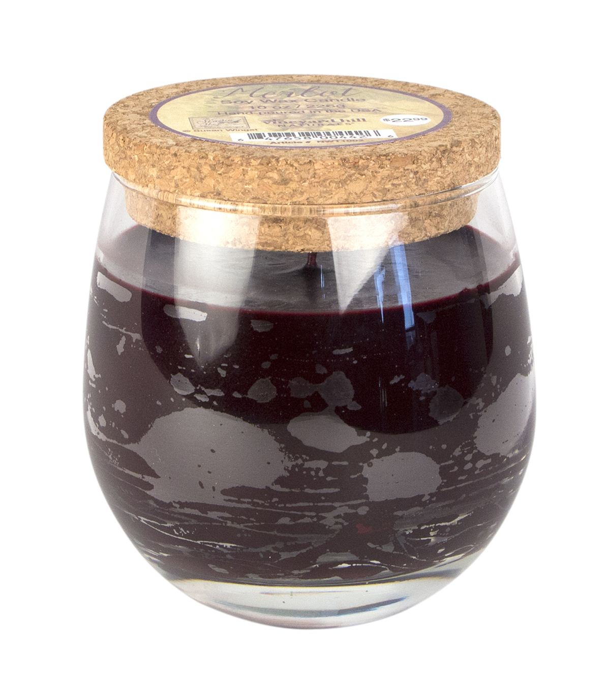 Susan Winget Red Wine Glass Candle Merlot 10 ounce