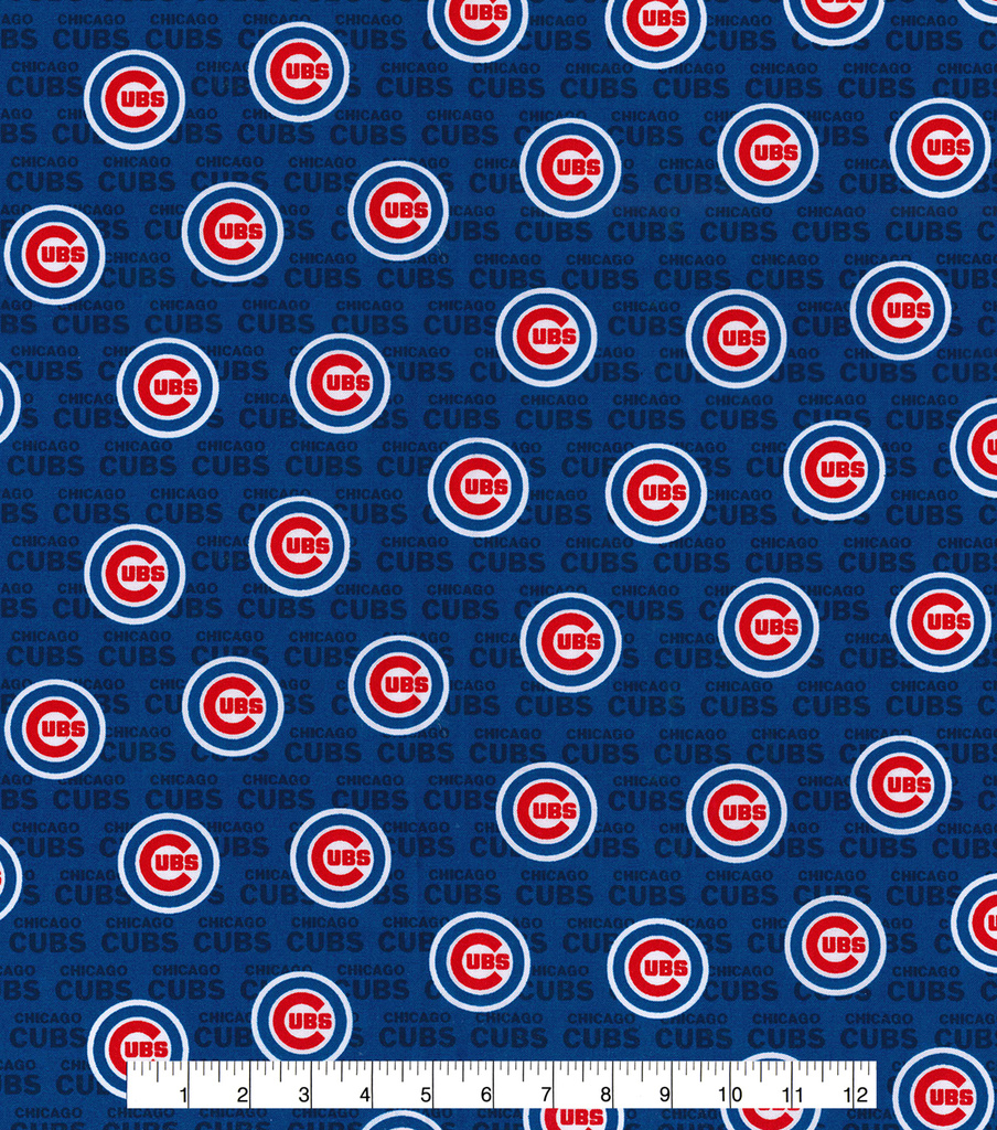 Chicago Cubs Cotton Fabric 58\u0022-Mini Print