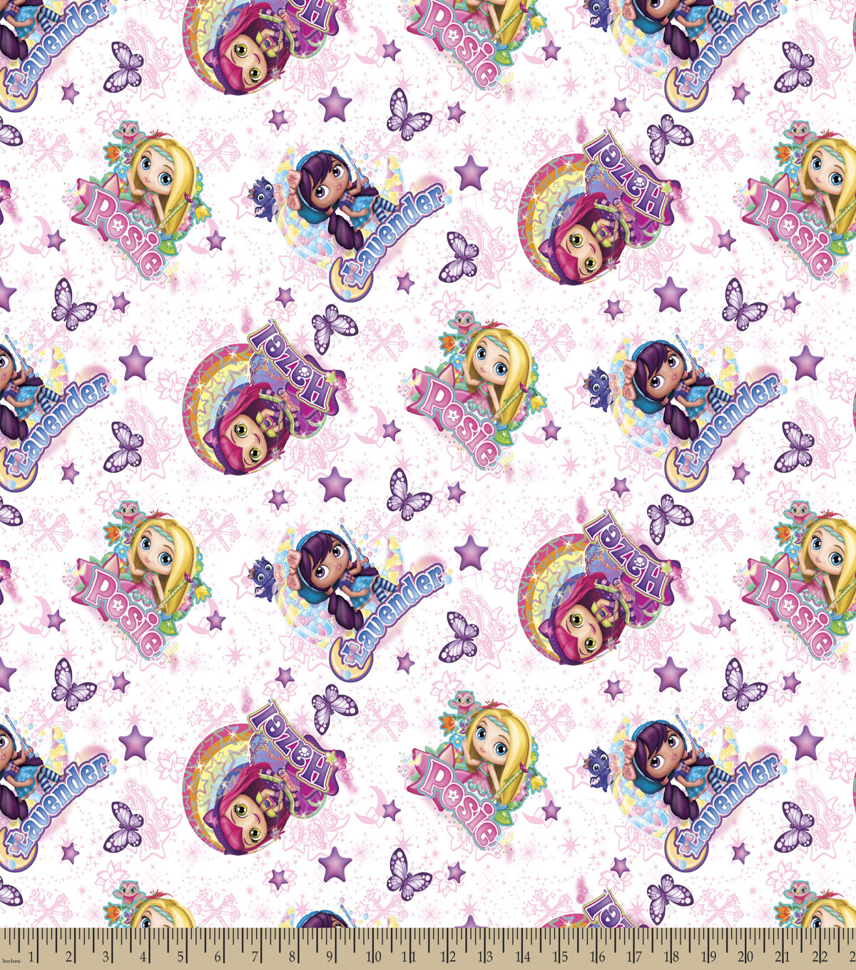 Little Charmers Badge Print Fabric