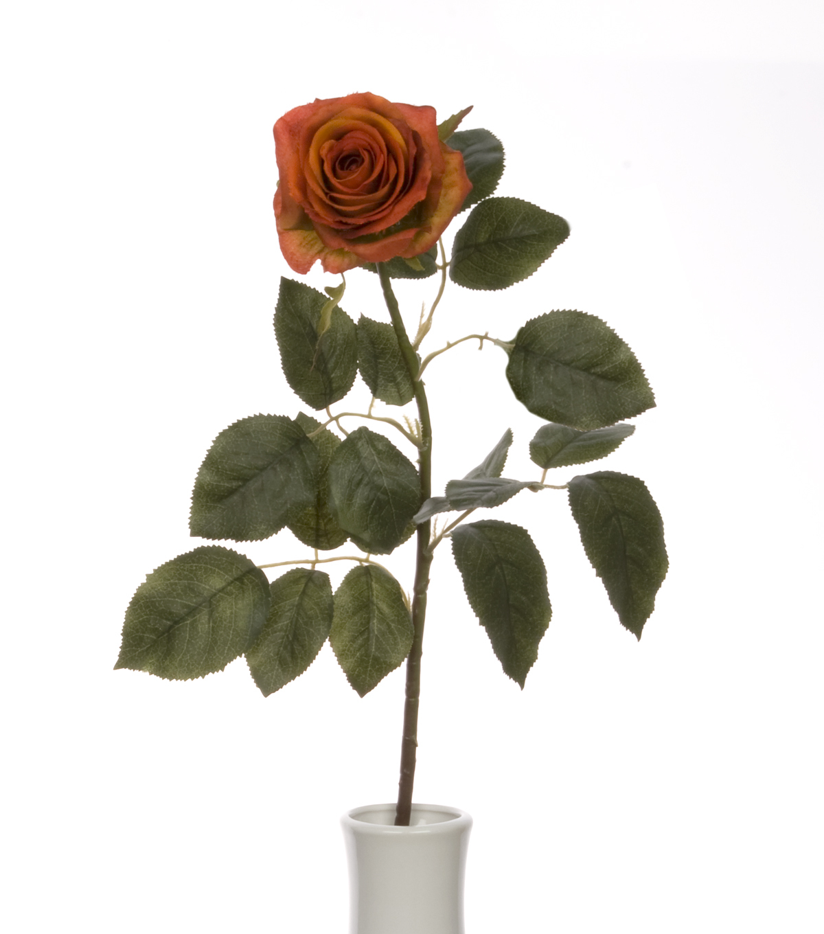 Bloom Room 27.5\u0022 Confetti Rose Stem-Orange Rust