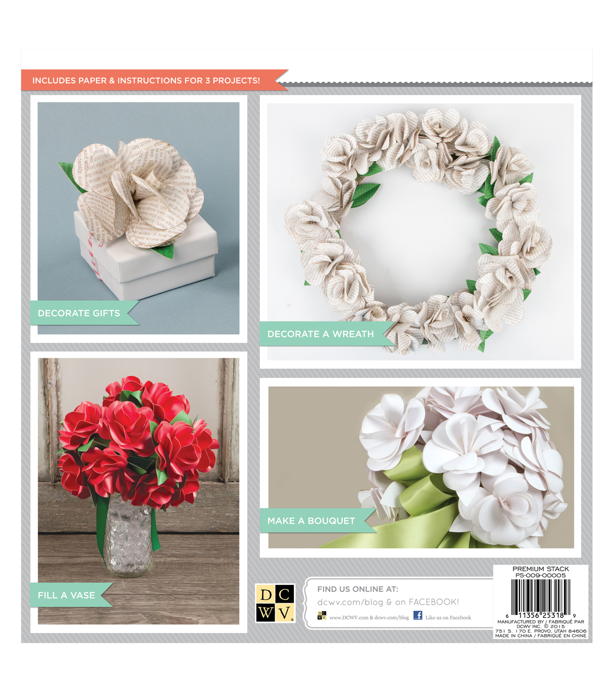DCWV DIY Project Stack: Paper Roses