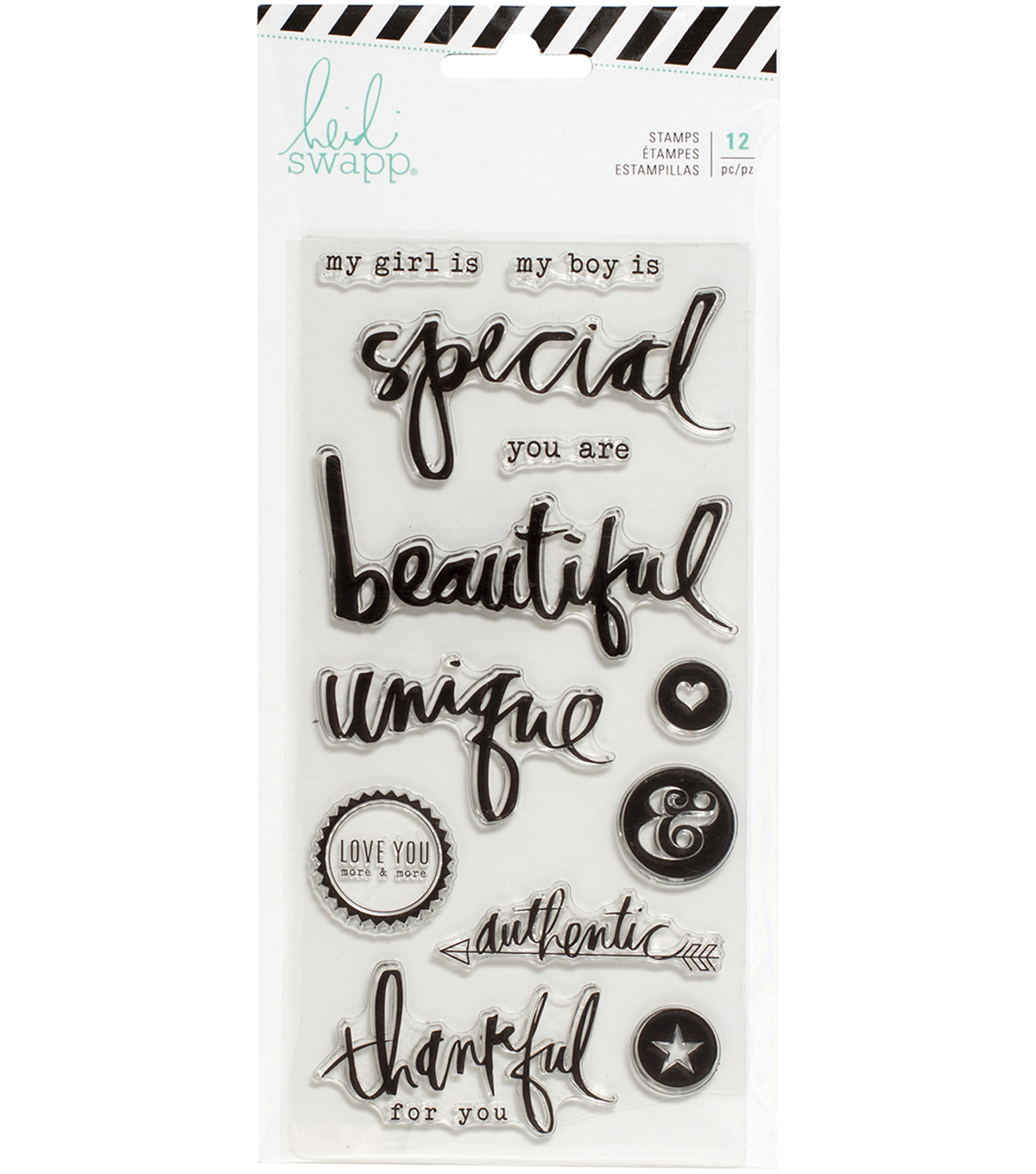 Heidi Swapp Magnolia Jane Clear Stamps-Special Words & Icons