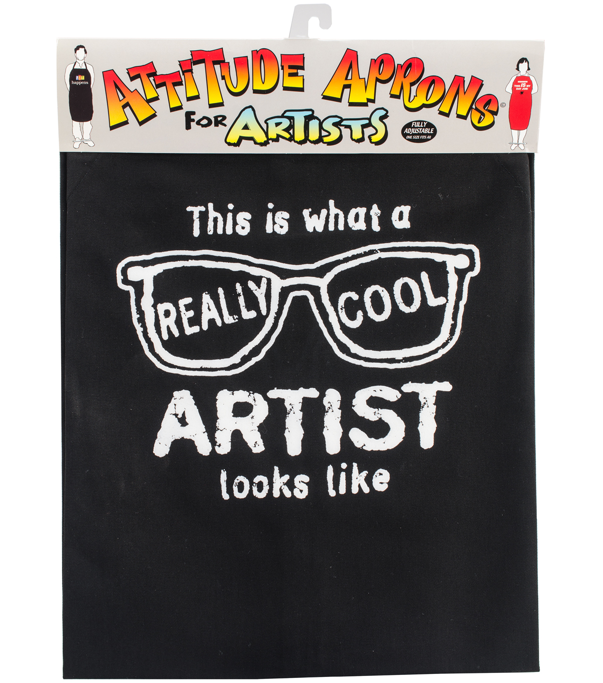 Attitude Artist Apron Black-Really Cool Artist