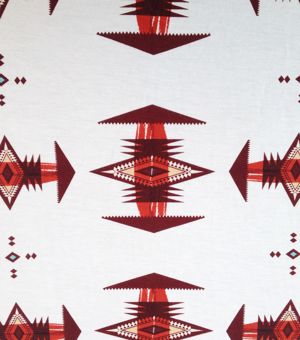 Southwest Knit Fabric 57\u0022-White Arrow