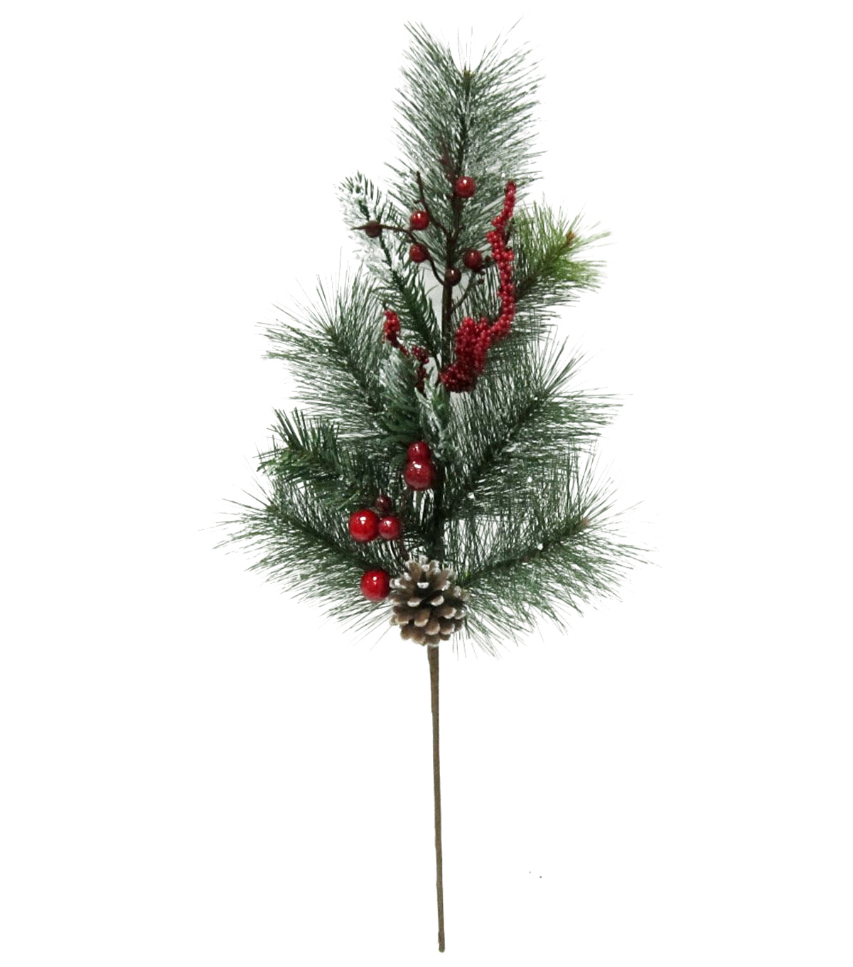 Blooming Holiday Berry, Pine & Pinecone Spray-Red