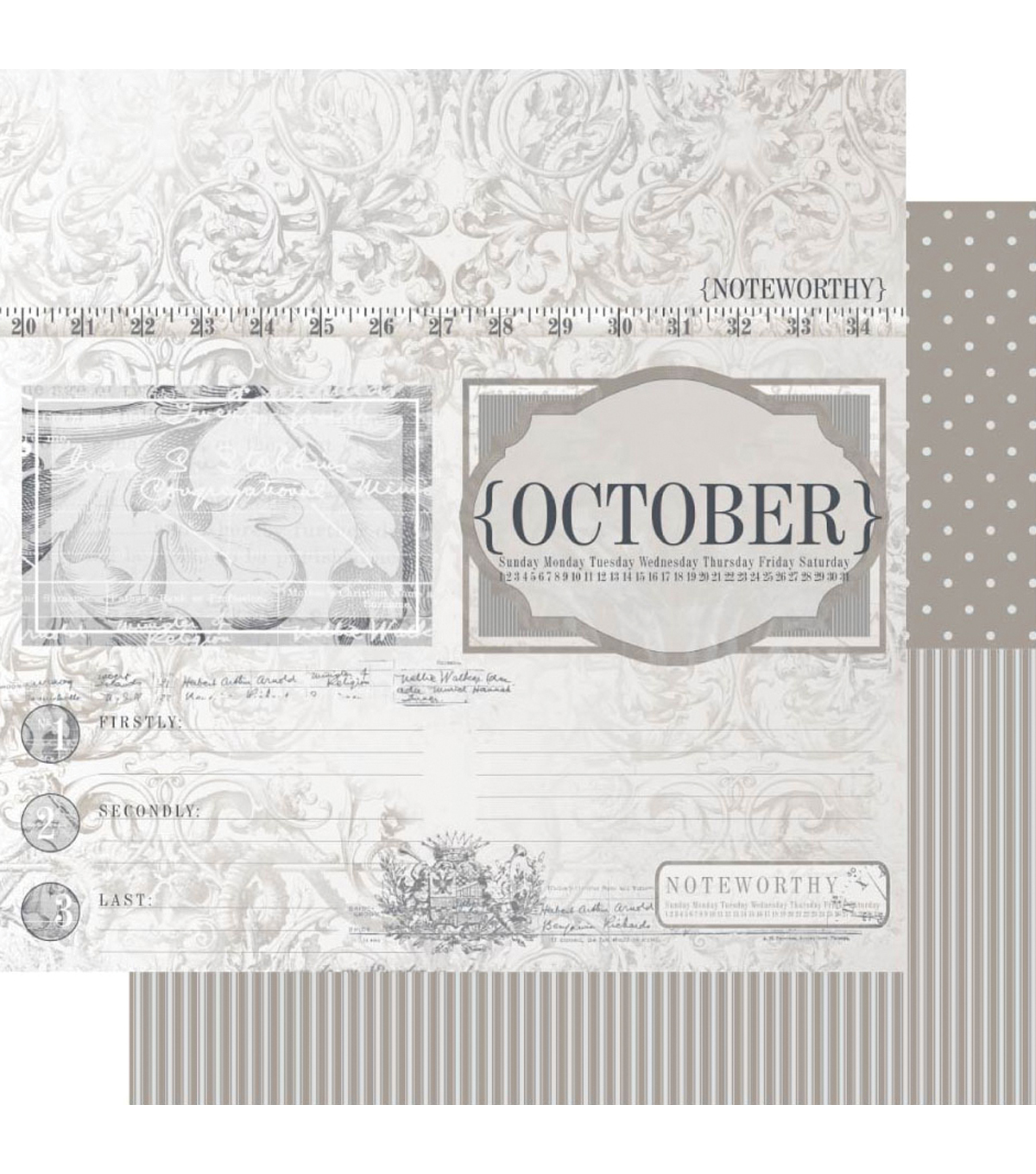 Ruby Rock-It Year In Review October Double-Sided Cardstock
