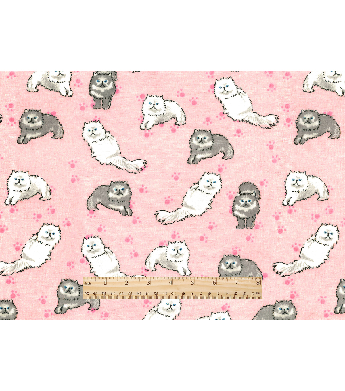 Snuggle Flannel Fabric 42\u0022-Pretty Kitty On Pink
