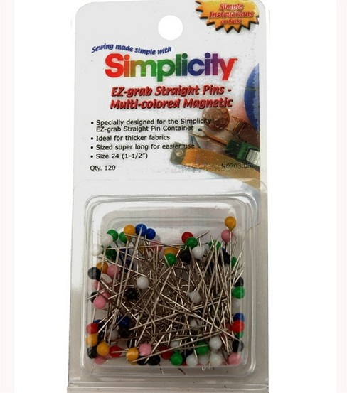 Simplicity EZ-Grab Multi-Colored Magnetic Pins