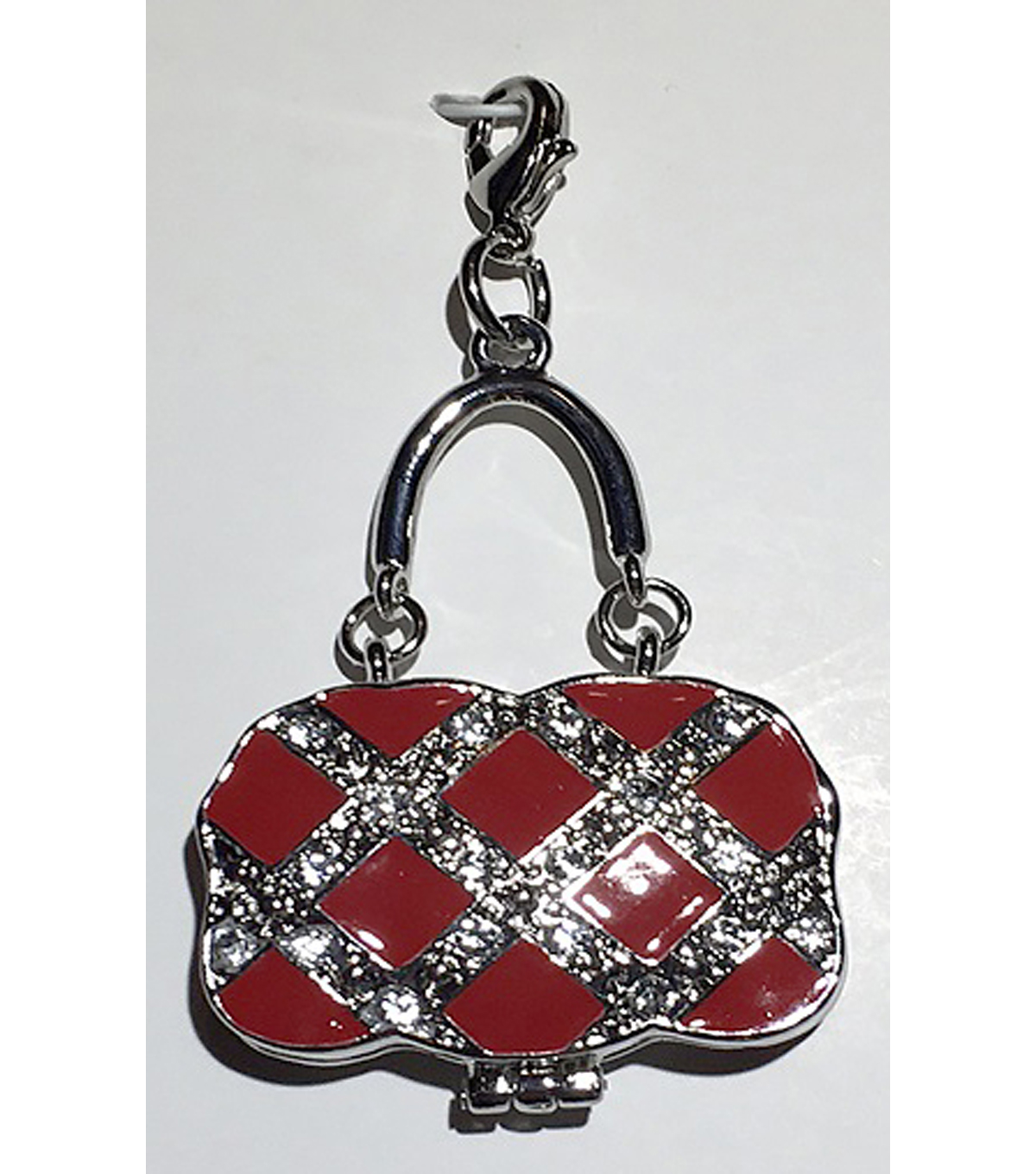 Clip on Purse-Red & Silver