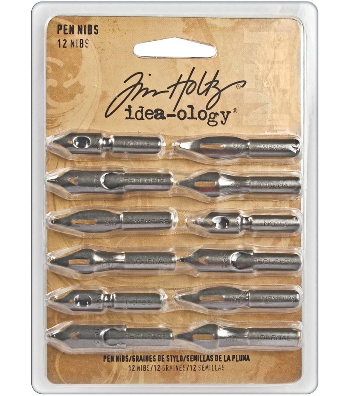 Tim Holtz Idea-Ology 12pk Pen Nibs-Antique Nickel