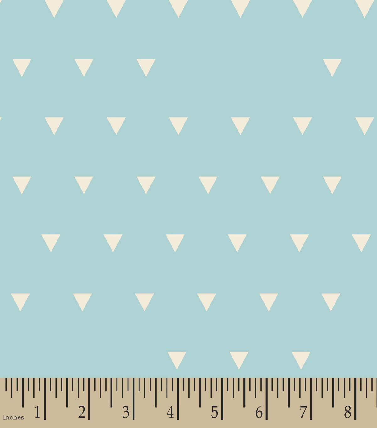 Blue Triangles Print Fabric