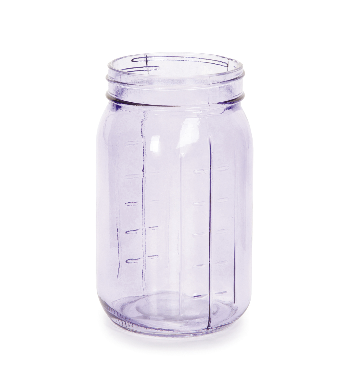 Glass Vintage Look Jar - Purple