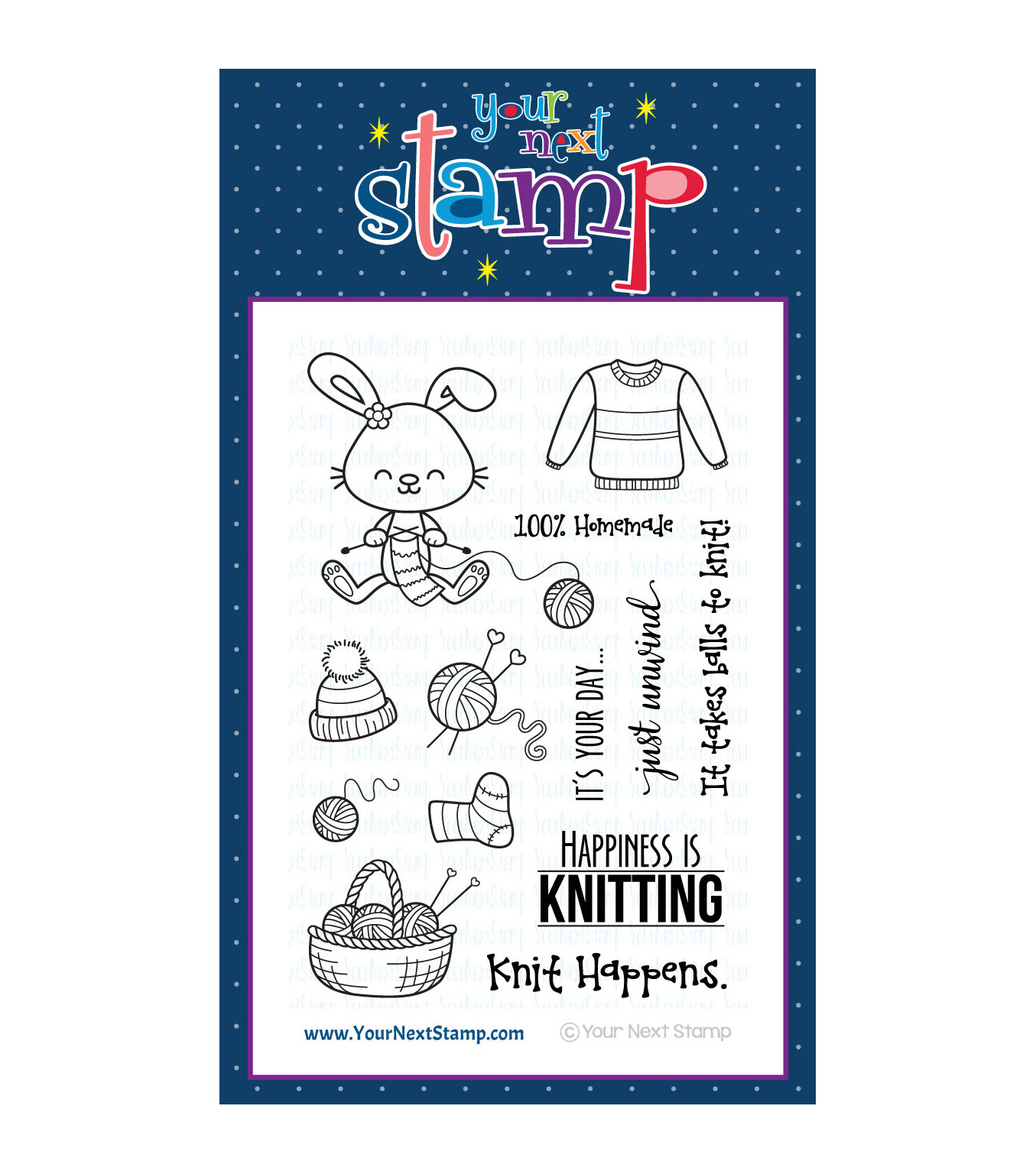 Your Next Stamp Clear Stamp Set-Sprinkles - Knit Happens