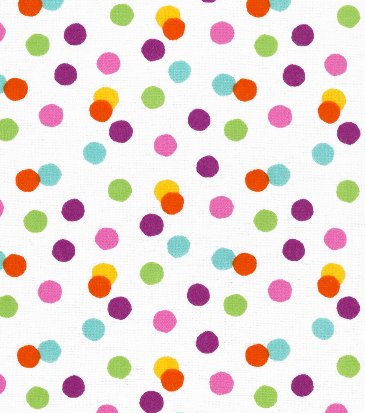 Snuggle Flannel Fabric 42''-Bright Scattered Dots