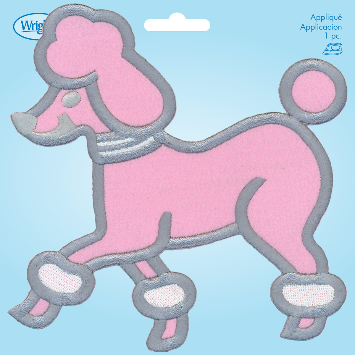 Large Pink Poodle Iron On