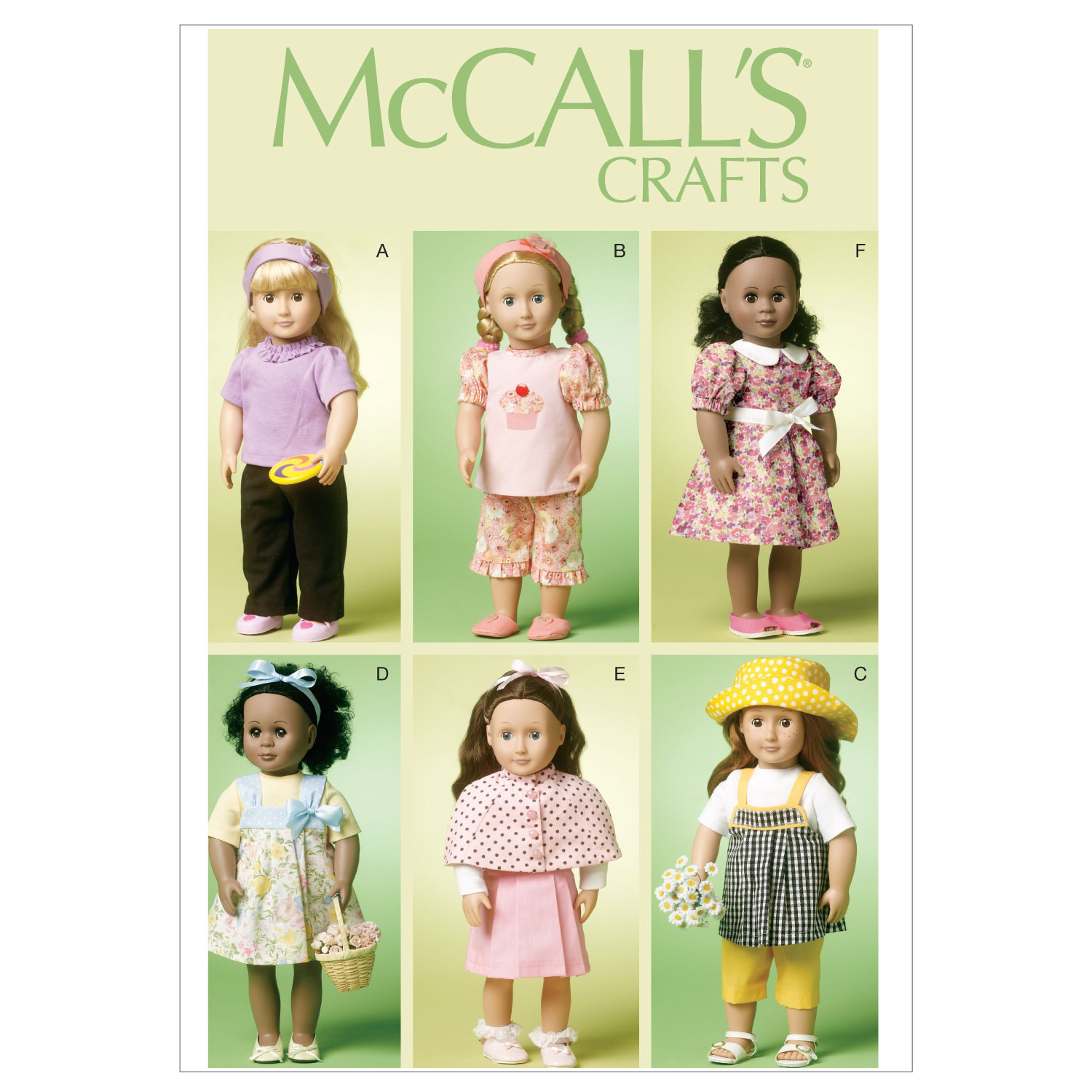 McCall\u0027s Crafts Doll Clothes-M6526