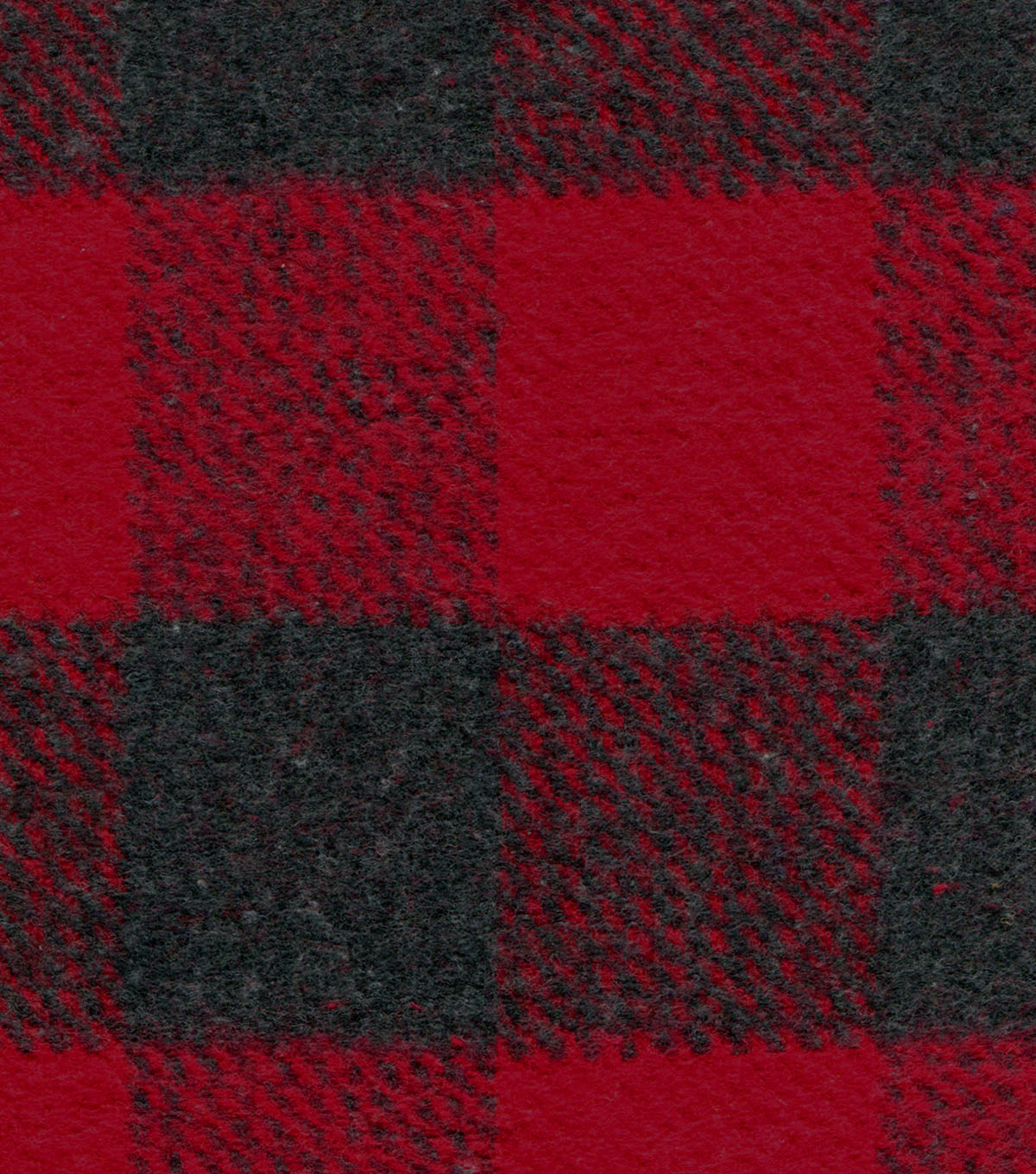 Plaiditudes Brushed Cotton Fabric 44\u0022-Gray & Red Check