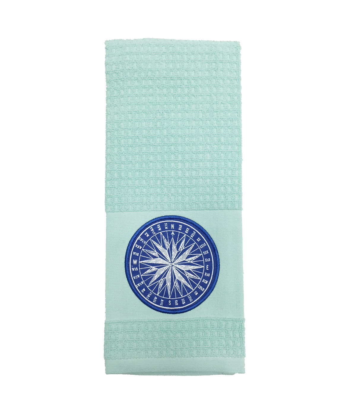 Sea to Sea 16''x28'' Dobby Terry Hand Towel-Compass Icon
