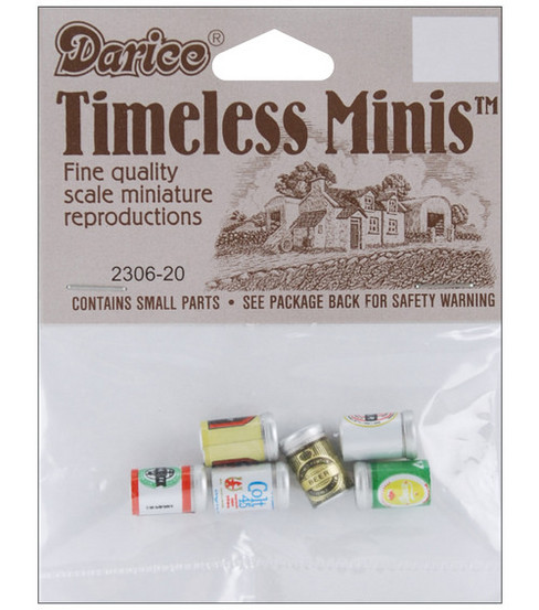 Darice Timeless Miniatures-Assorted Beer Cans
