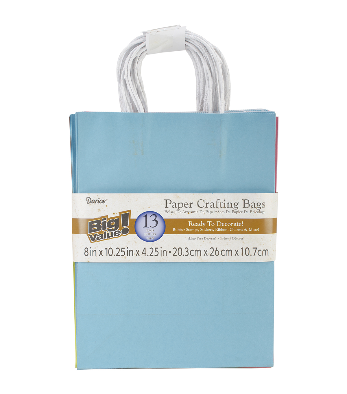 "Paper Bags 4.25""X8""X10.25"" 13/Pkg-Assorted Fashion"