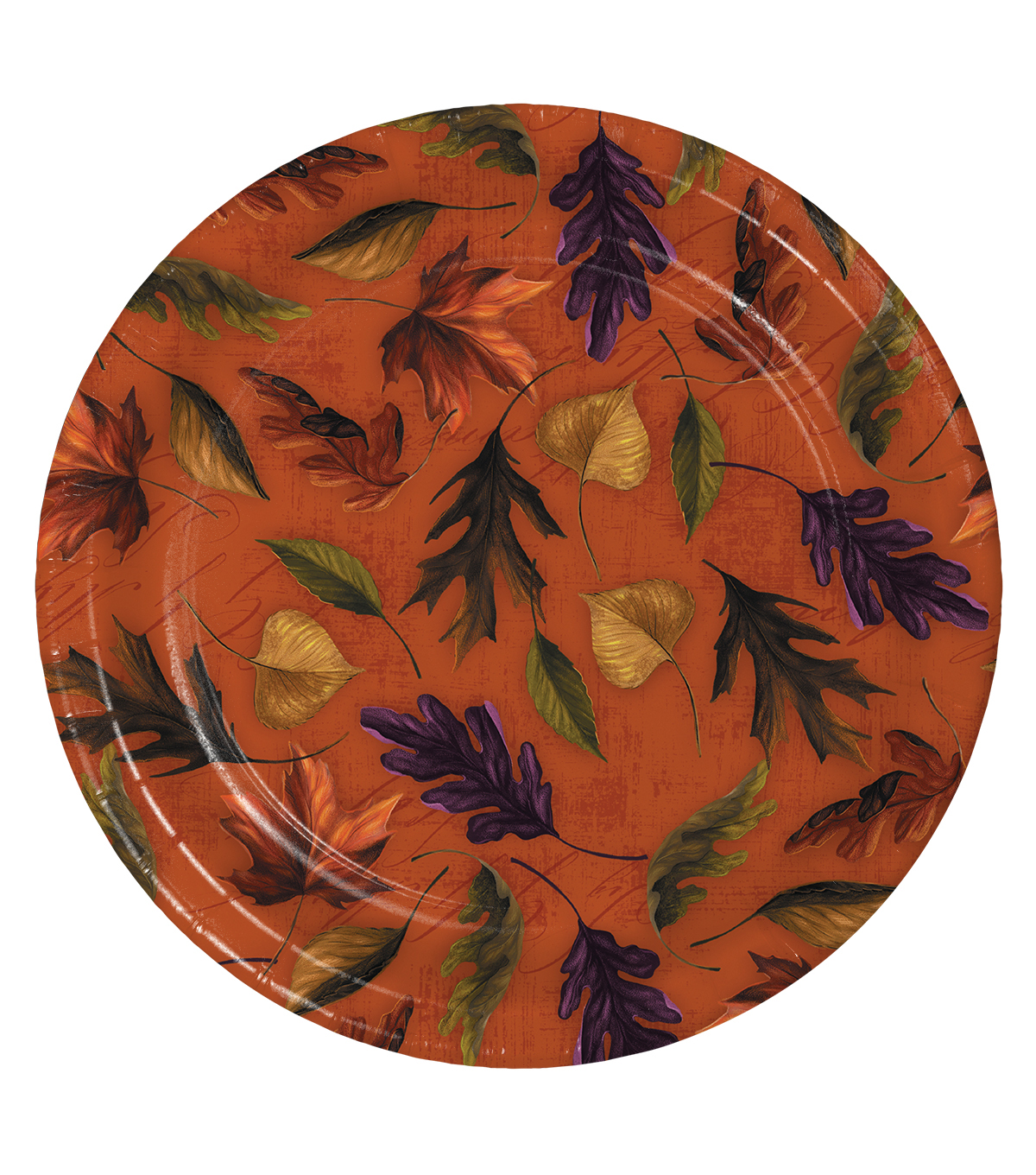 Fall Into Color 8 Pack Paper Dinner Plates-Leaves