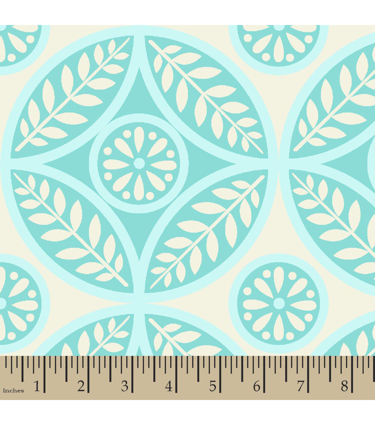 Blizzard Fleece Fabric 59\u0022-Floral Dot Cream