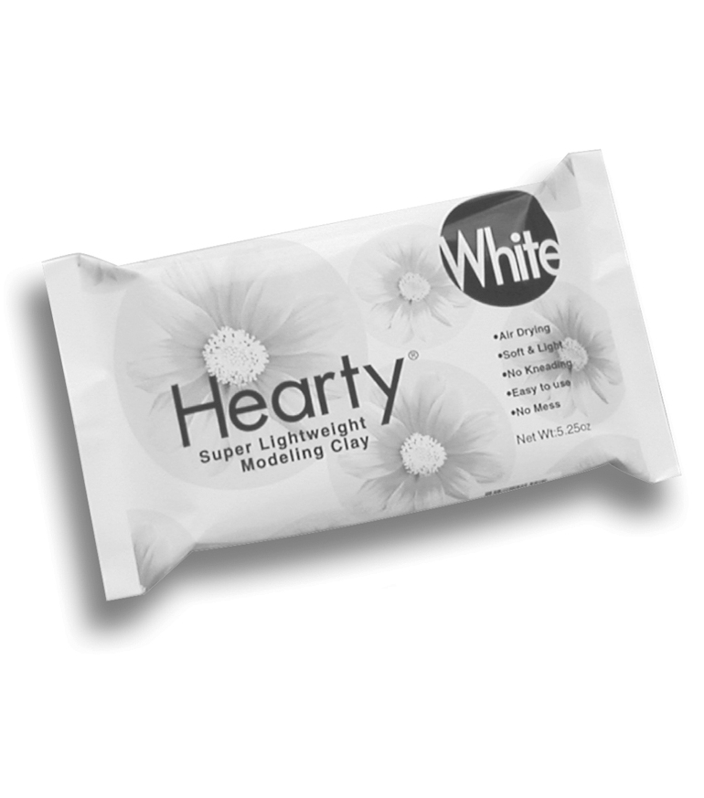 Hearty Super Lightweight Air-Dry Clay 5.25oz-White
