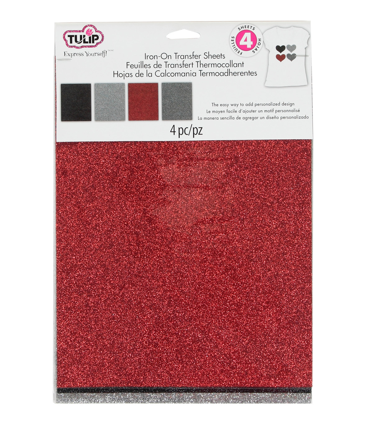 Tulip® Fashion Glitter™ Iron-On Shimmer Transfer Sheets Twilight