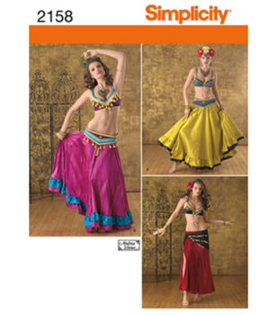 Simplicity Pattern 2158-Misses' Belly Dancer Costume
