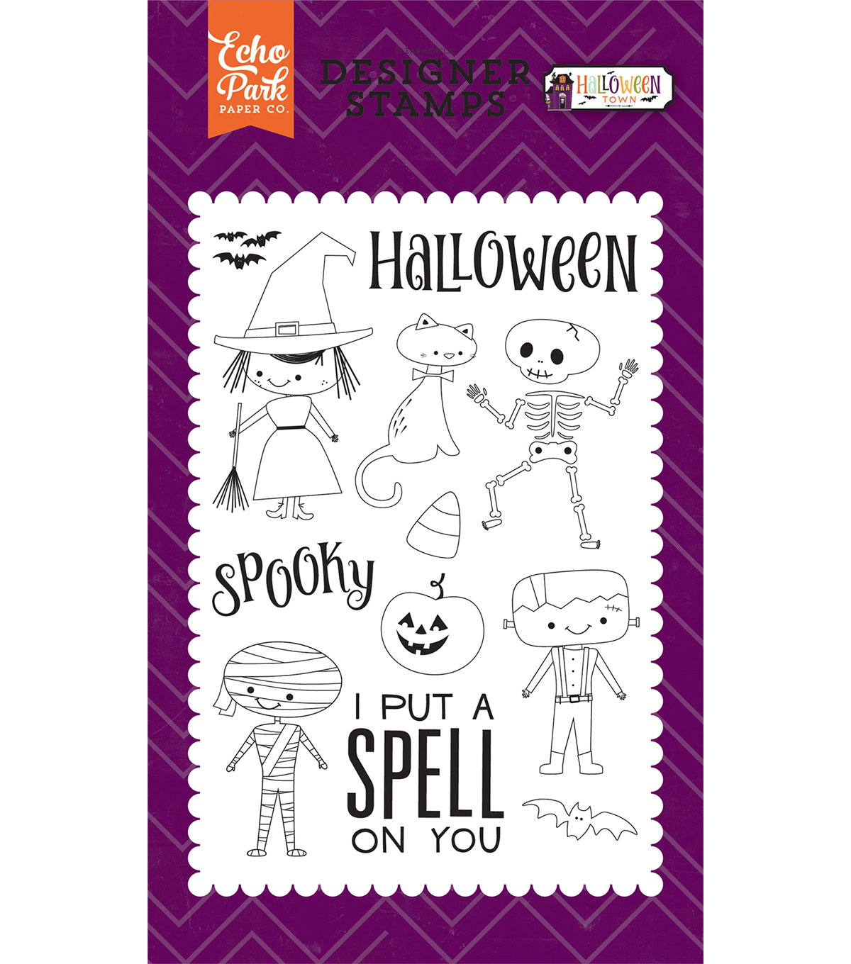 Echo Park Stamps 4\u0022X6\u0022-Halloween Costumes