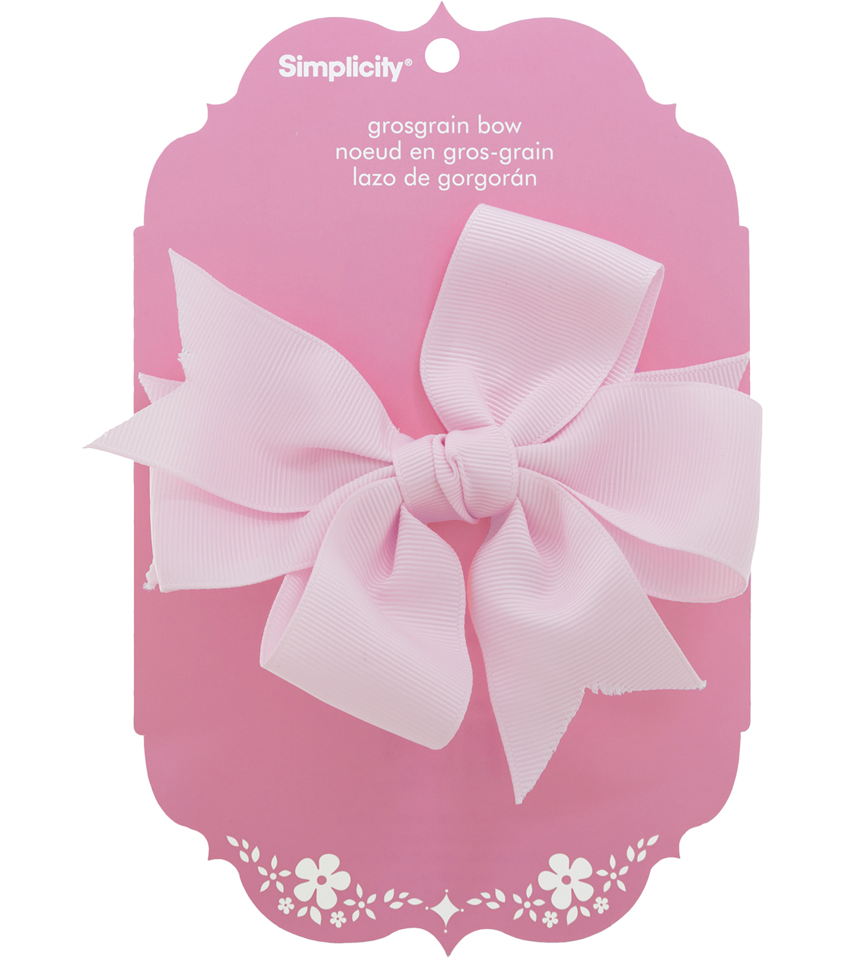 Large Grosgrain Bow Pink