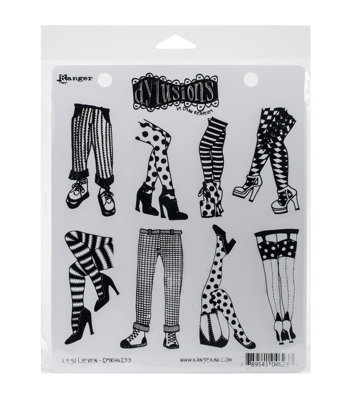 Ranger Dyan Reaveley\u0027s Legs Eleven Dylusions Cling Stamp