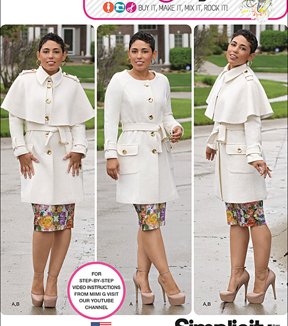 Simplicity Patterns Us1016Bb-Simplicity Misses\u0027& Plus Size Coat By Mimi G Style-20W-28W