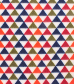 Blizzard Fleece Fabric 59\u0022-Triangle Geo