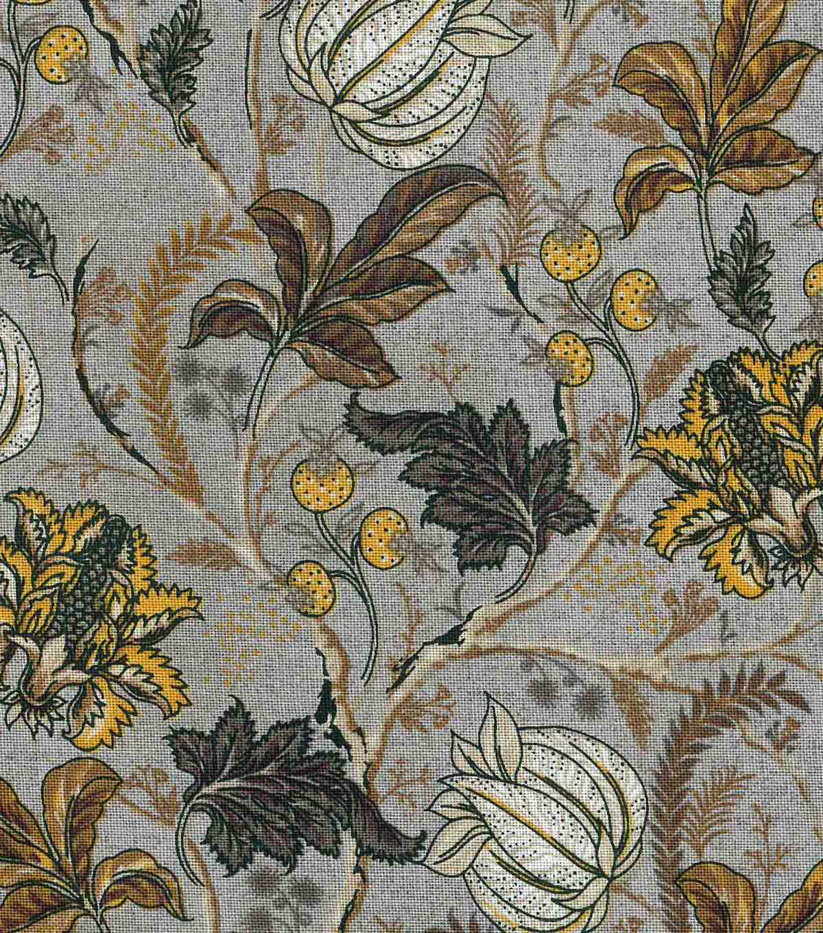 "Vintage Cotton Fabric 43""-Jacobean Gray"