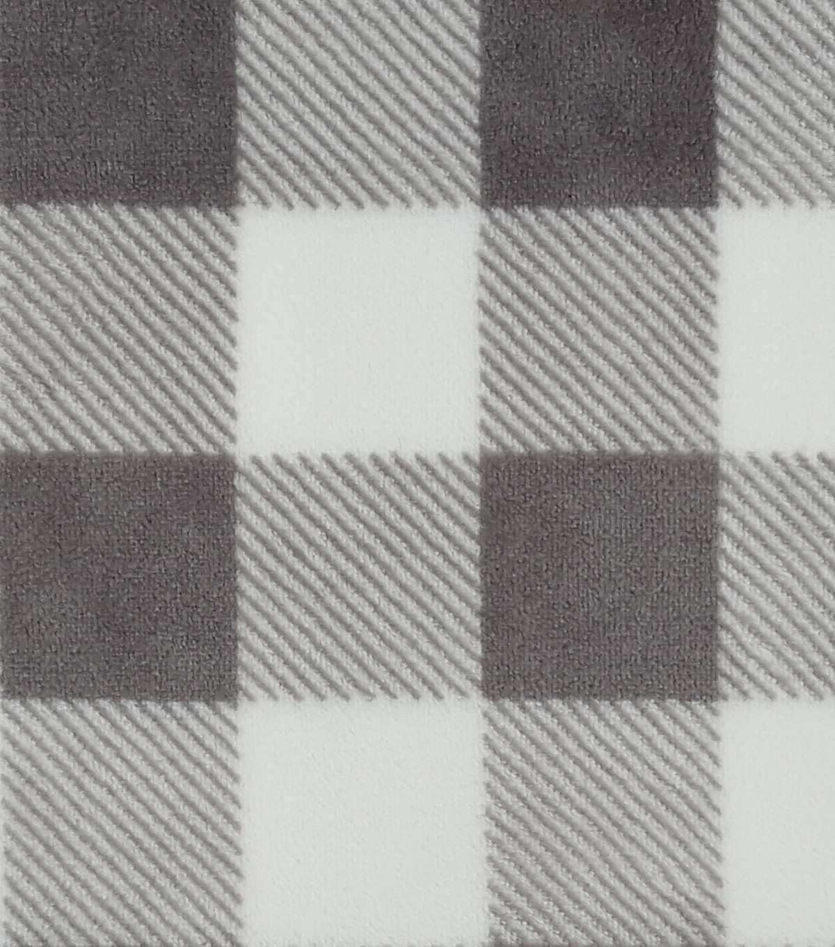 Sew Lush Fabric 57\u0022-Buffalo Check Gray White