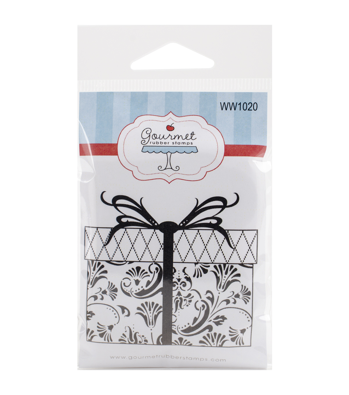 Gourmet Rubber Stamps Cling Stamps-Gift Box
