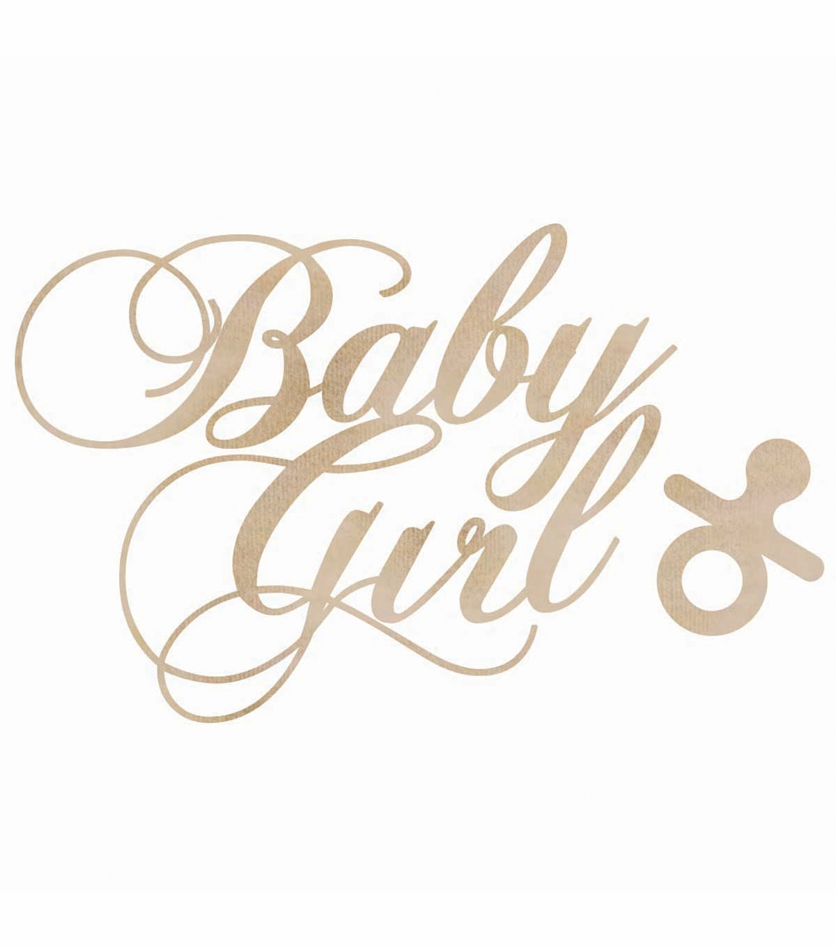 Kaisercraft Wood Flourish Pack Baby Girl