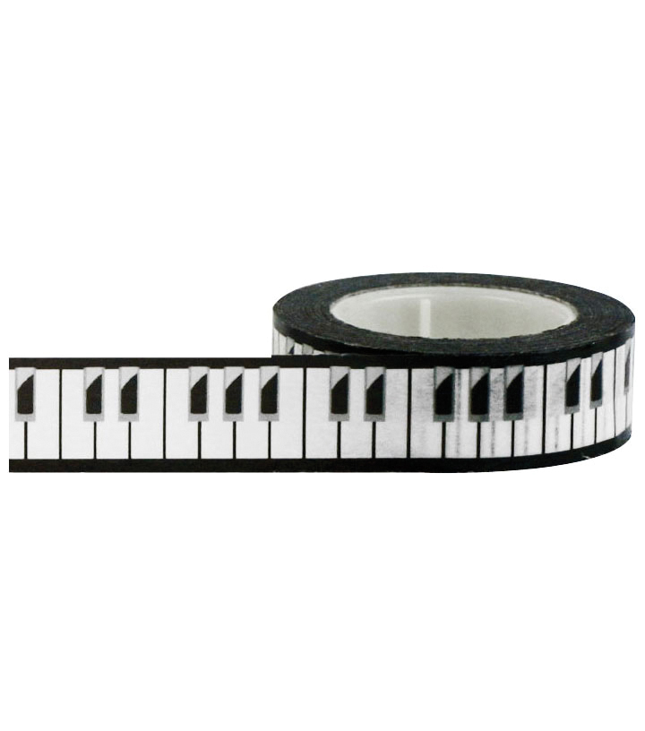 Little B Decorative paper Tape 15mmx15m-Piano Keys