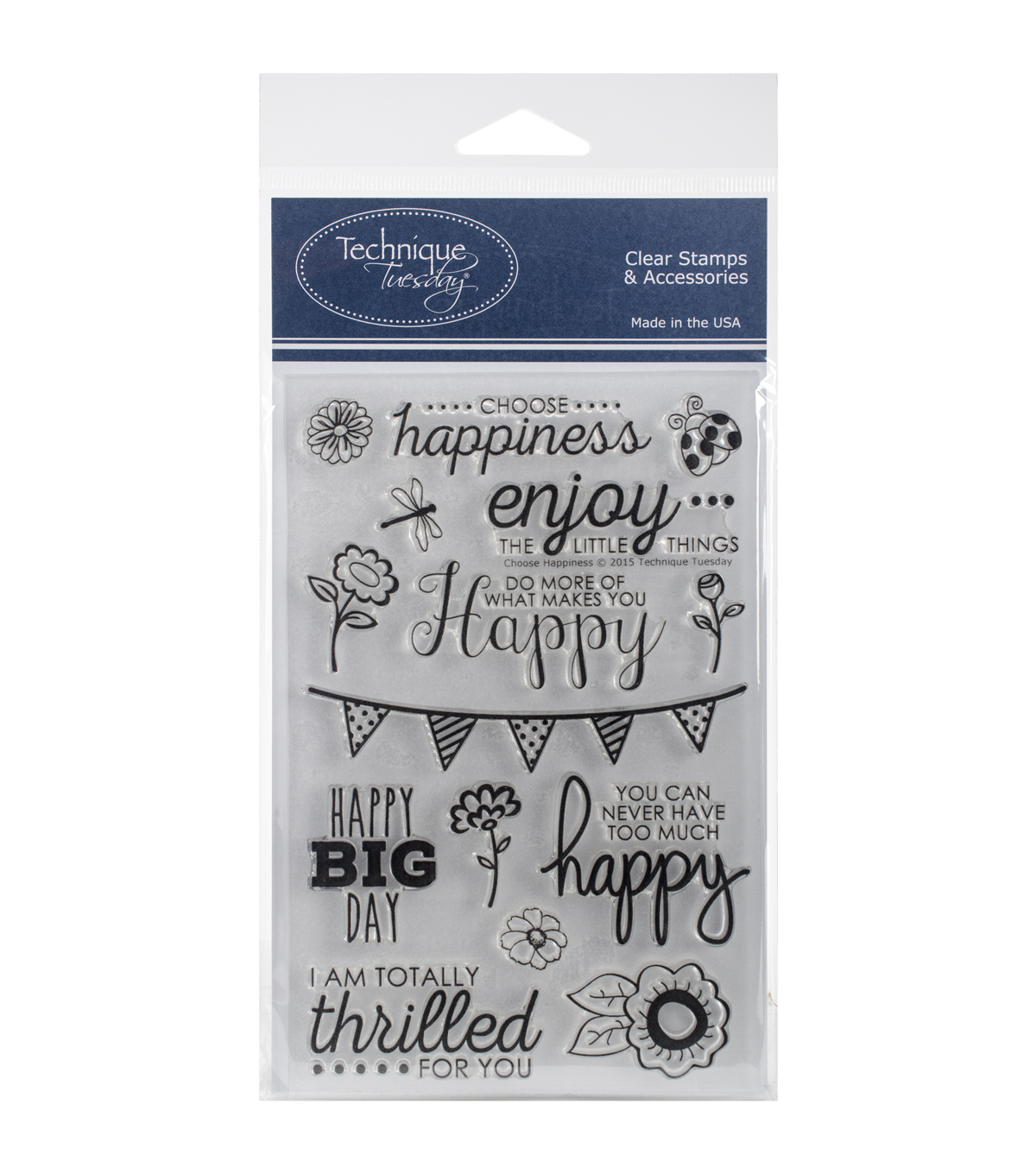 Technique Tuesday Clear Stamps-Choose Happiness