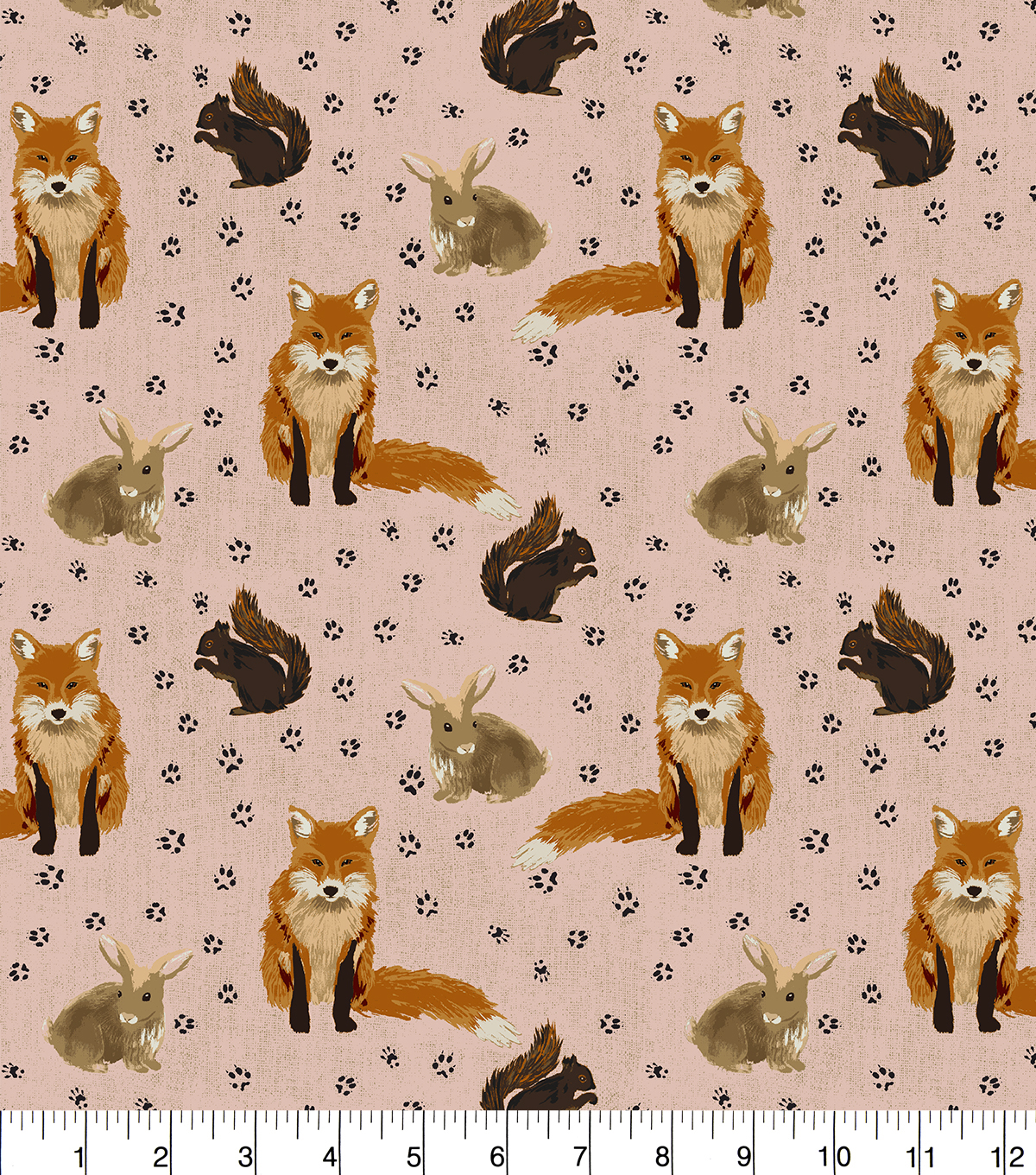 Snuggle Flannel Fabric 42''-Woodland Fox & Friends