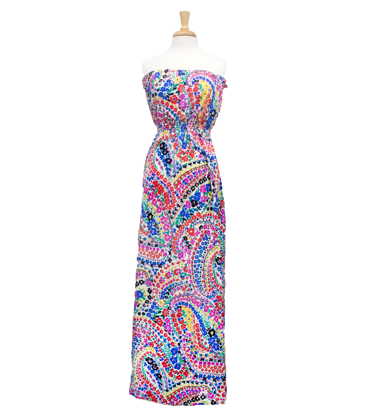 Style In An Instant 53\u0022 Blouson Dress Knit Paisley Floral