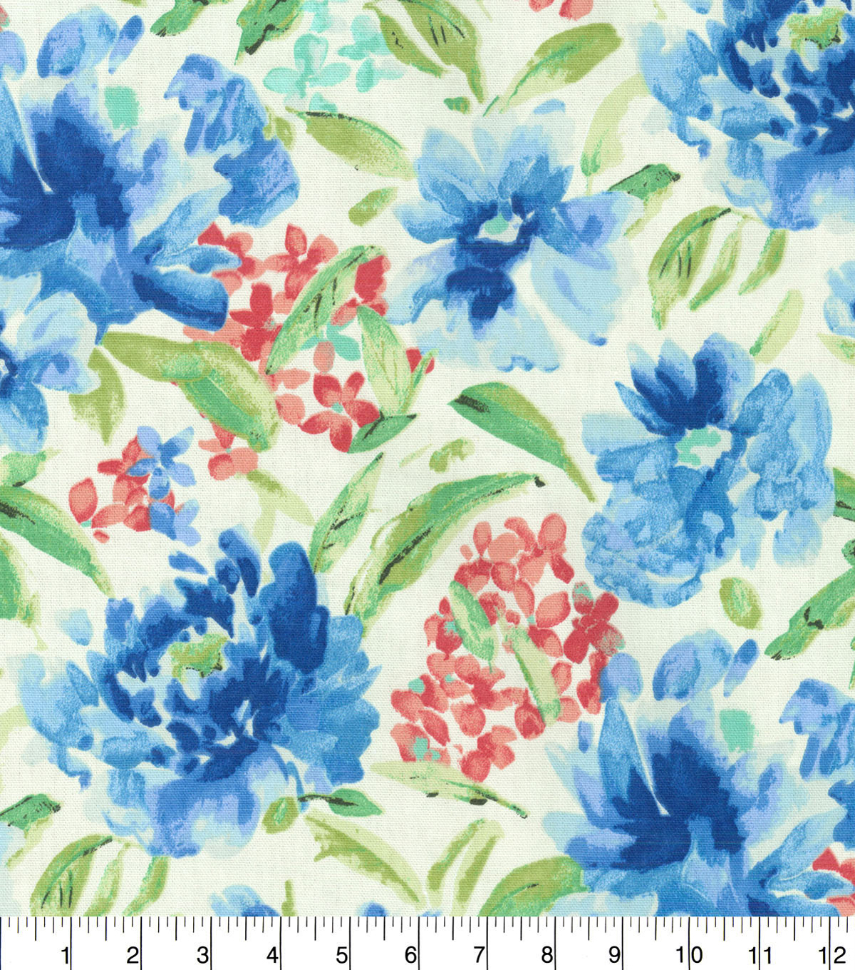 "Waverly Upholstery Fabric 54""-Spring Forth Bluebell"
