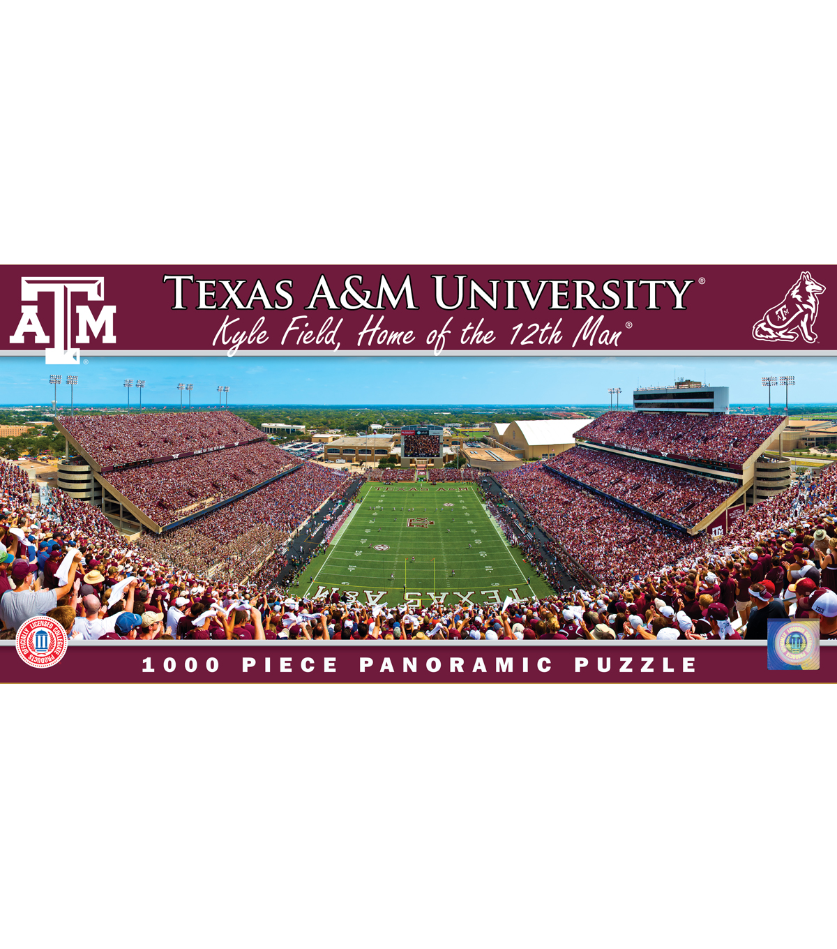 Texas A&M University Master Pieces Panoramic Puzzle