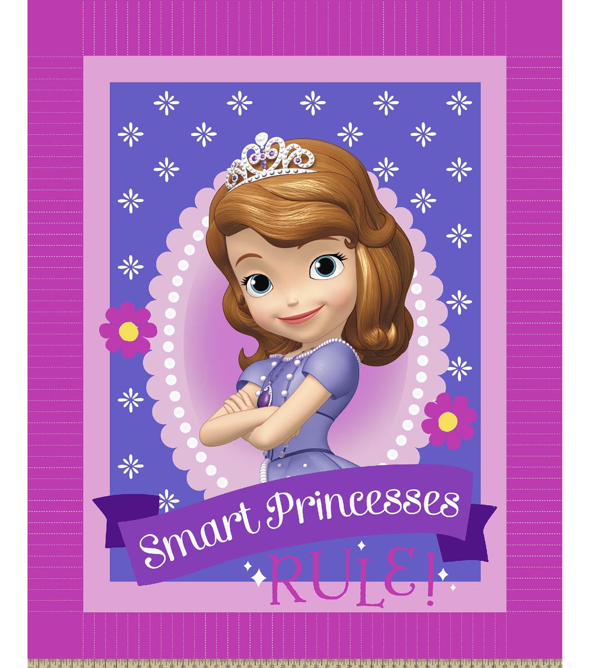 No Sew Fleece Throw 48\u0022-Disney® Sofia Smart Princesses