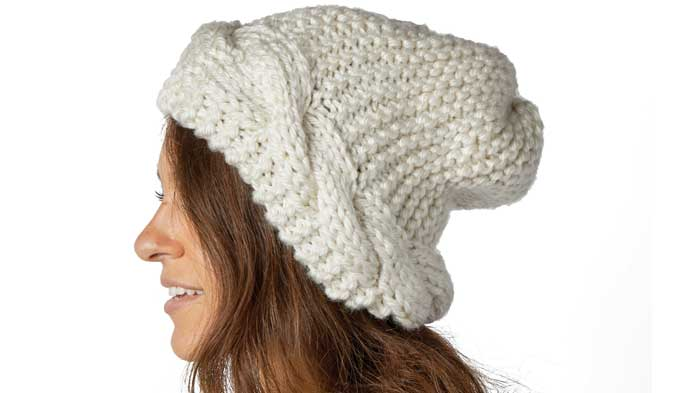 Knit Slouch Cable Hat